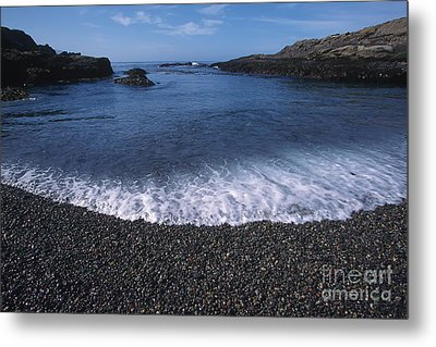 Beach At Point Lobos Metal Print by Stan and Anne Foster