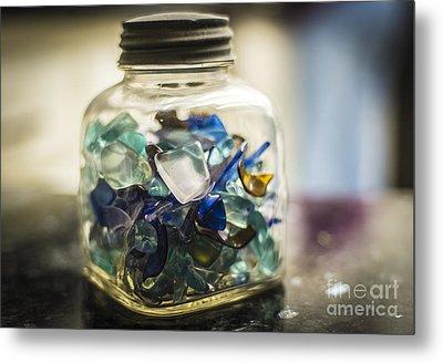 Beach Glass Metal Print