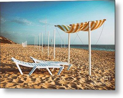 Beach Shader Metal Print