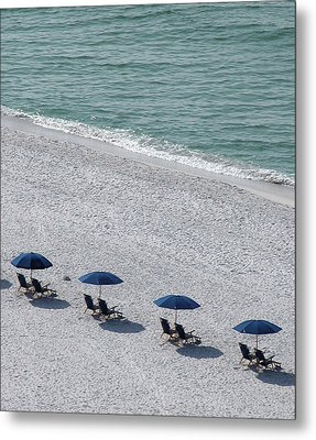 Metal Print featuring the photograph Beach Therapy 1 by Marie Hicks