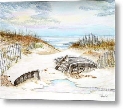 Beached Boats Metal Print by Pauline Ross