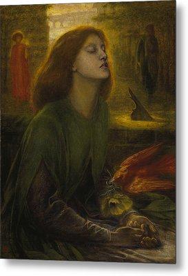Beata Beatrix Metal Print by Dante Gabriel Rossetti