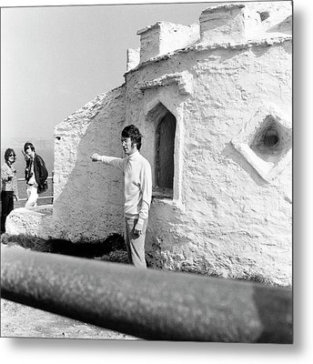 Metal Print featuring the photograph Beatles John Lennon Magical Mystery - Square by Chris Walter