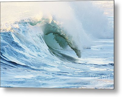 Beautiful Wave Breaking Metal Print by Vince Cavataio - Printscapes