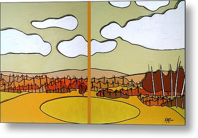 Beautiful Yellow Day Metal Print by Jason Charles Allen