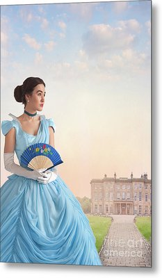 Metal Print featuring the photograph Beautiful Young Victorian Woman by Lee Avison