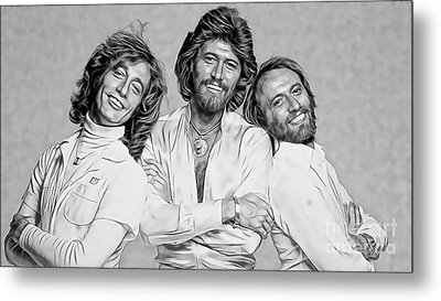 Bee Gees Collection Metal Print by Marvin Blaine