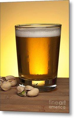 Beer In Glass Metal Print