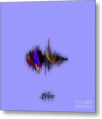 Believe Recorded Soundwave Collection Metal Print