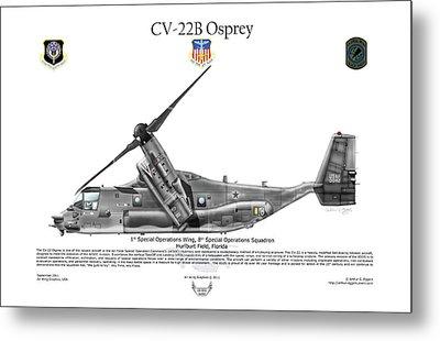 Bell Boeing, Cv-22b, Osprey Metal Print