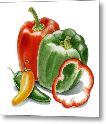 Bell Peppers Jalapeno Metal Print