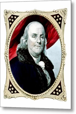 Ben Franklin Metal Print by War Is Hell Store