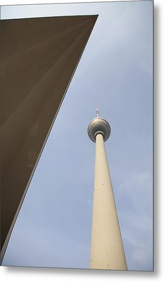 Berlin Tv Tower Metal Print