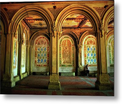Metal Print featuring the photograph Bethesda Terrace Arcade by Jessica Jenney
