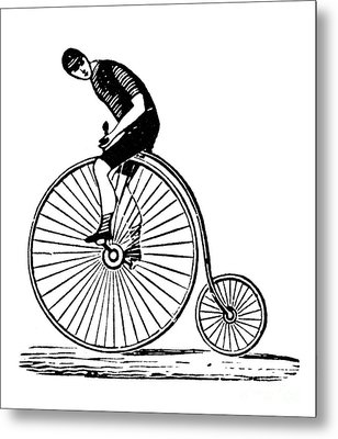 Bicycling Metal Print by Granger