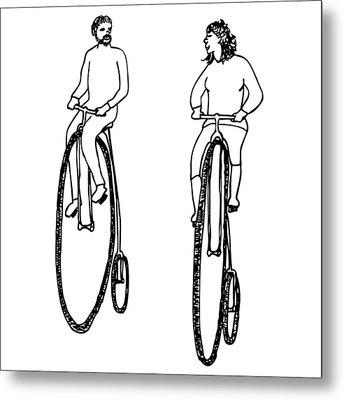 Bike Buddies Metal Print by Karl Addison