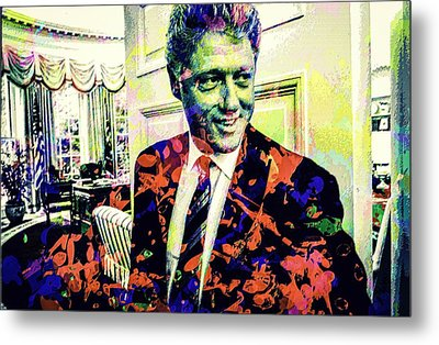 Bill Clinton Metal Print