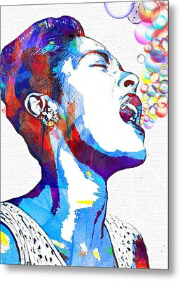Billie Holiday Metal Print by Vel Verrept