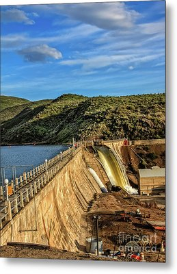 Metal Print featuring the photograph Black Canyon Dam by Robert Bales