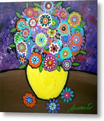 Blooms 6 Metal Print by Pristine Cartera Turkus