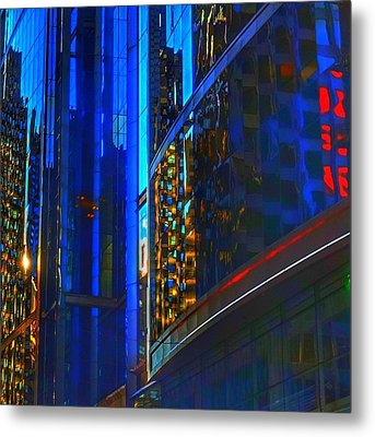 Metal Print featuring the photograph Blue Cityscape by Marianne Dow
