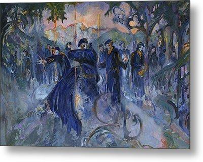 Blue Devil Alpine Gothic Metal Print