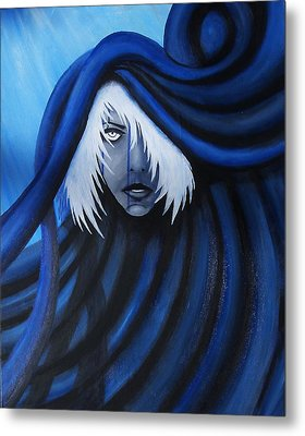 Blue Metal Print by Edwin Alverio