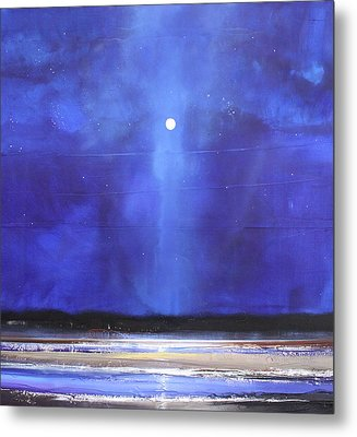 Blue Night Magic Metal Print by Toni Grote