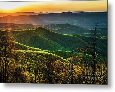 Blue Ridge Sunset Metal Print by Thomas R Fletcher