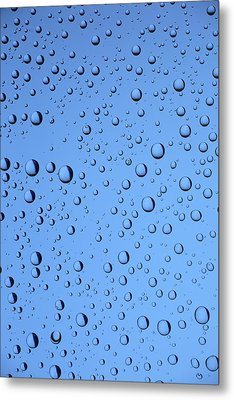 Blue Water Bubbles Metal Print by Frank Tschakert