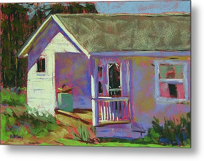 Blue Willow Farmers House Metal Print by Mary McInnis