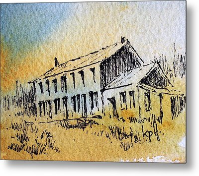 Boardinghouse Cable Ghost Town Montana Metal Print by Kevin Heaney