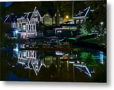 Boathouse Row II Metal Print by Frozen in Time Fine Art Photography