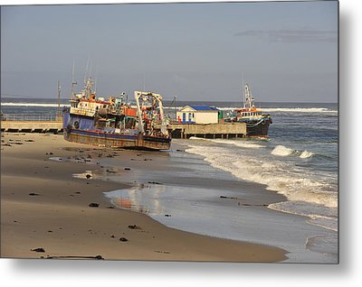 Boats Aground Metal Print