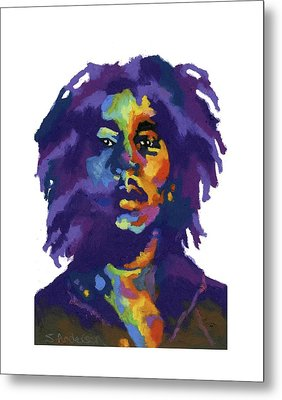 Bob Marley-for T-shirt Metal Print by Stephen Anderson
