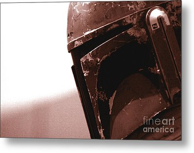 Boba Fett Helmet 32 Metal Print by Micah May