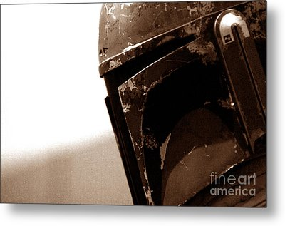 Boba Fett Helmet 33 Metal Print by Micah May