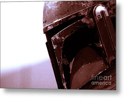 Metal Print featuring the photograph Boba Fett Helmet 34 by Micah May