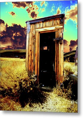 Bodie Outhouse Metal Print by Jim And Emily Bush
