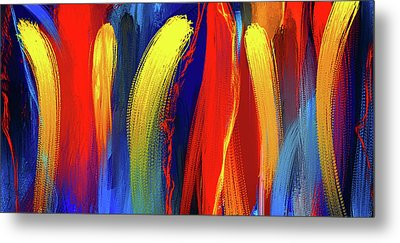 Be Bold - Primary Colors Abstract Art Metal Print
