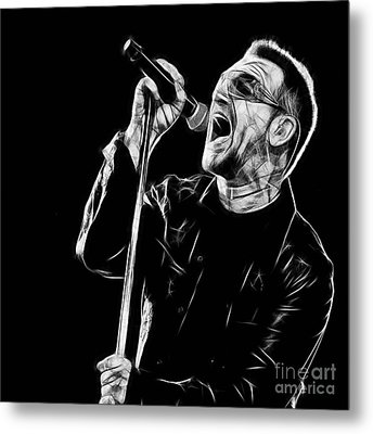 Bono U2 Collection Metal Print by Marvin Blaine
