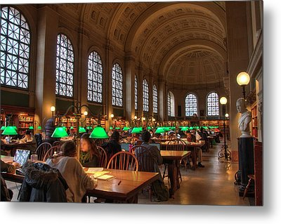 Metal Print featuring the photograph Boston Public Library by Joann Vitali