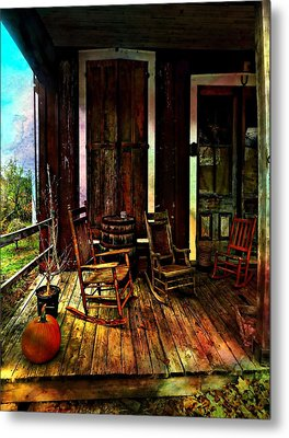 The Country Store Porch Metal Print by Julie Dant