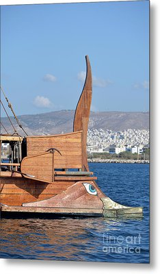 Bow Of A Full Scale Copy Of An Ancient Trireme Metal Print by George Atsametakis