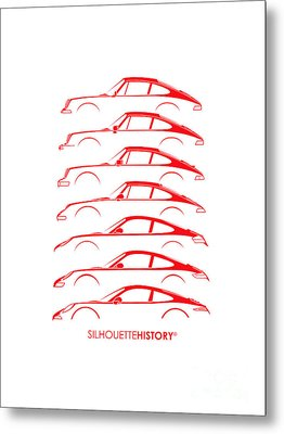 Boxer Sports Car Silhouettehistory Metal Print