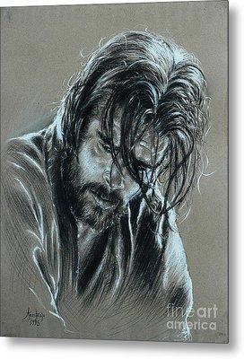 Brad Pitt Metal Print by Anastasis  Anastasi