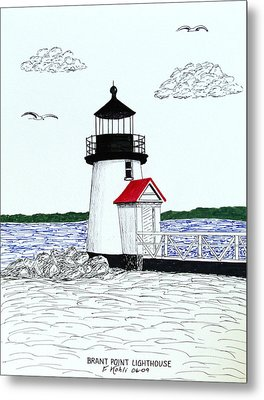 Brant Point Lighthouse Metal Print by Frederic Kohli