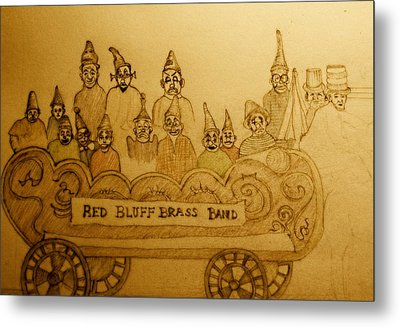Brass Band Metal Print by Lee M Plate