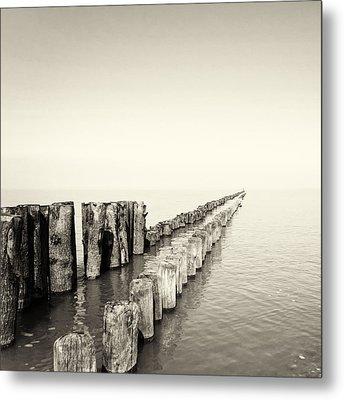 Breakwaters Metal Print by Wim Lanclus