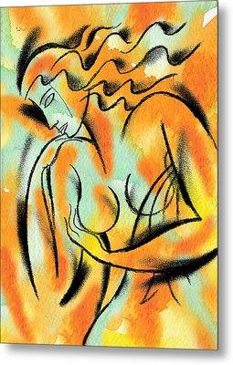 Breast Exam Metal Print by Leon Zernitsky